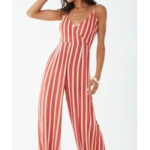 NWT Forever 21 Striped Jumpsuit